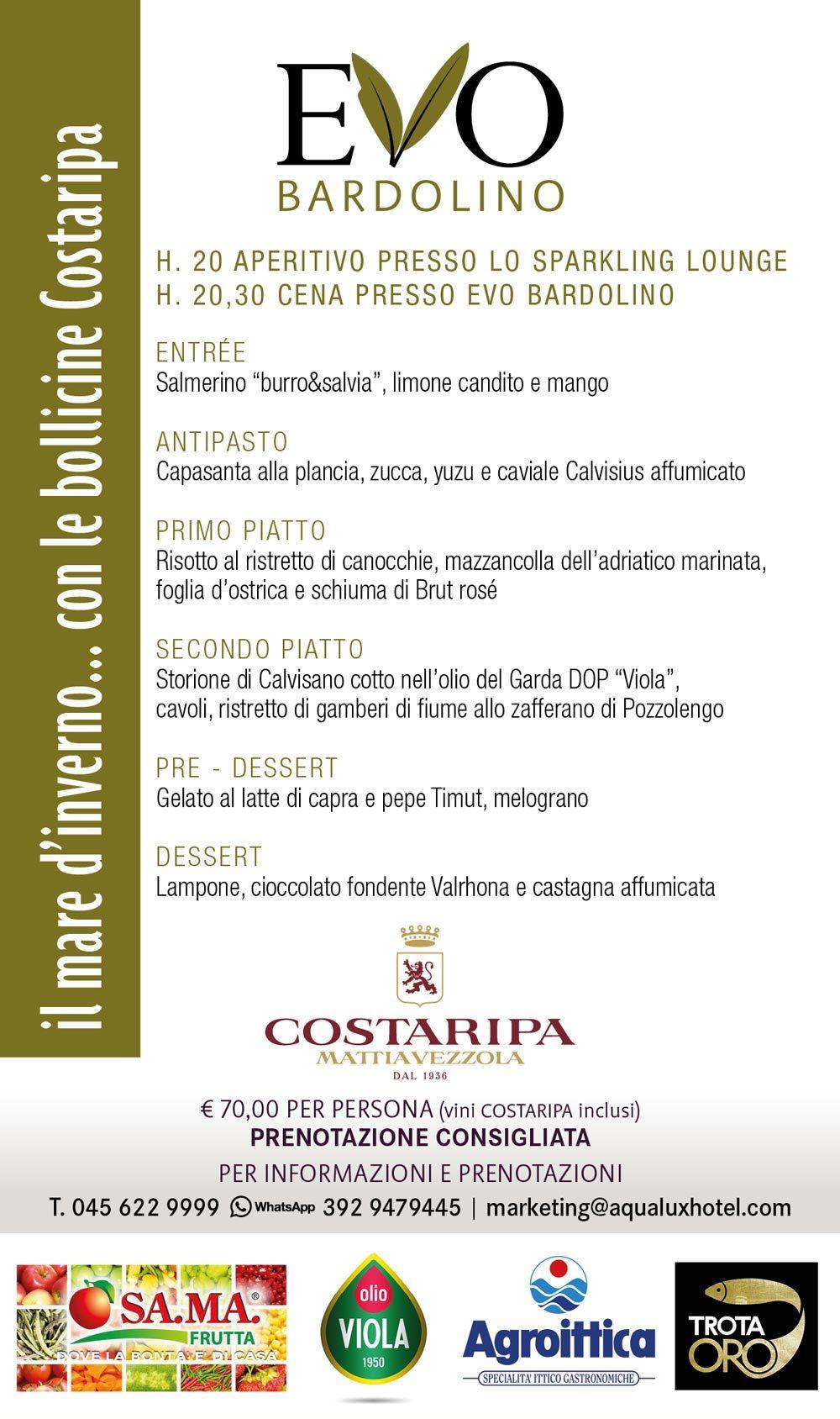Evento Evo Ristorante Bardolino pesce e champagne